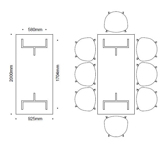 Loop-Table-seating-capacity