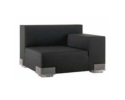 Plastics Left Armchair Black
