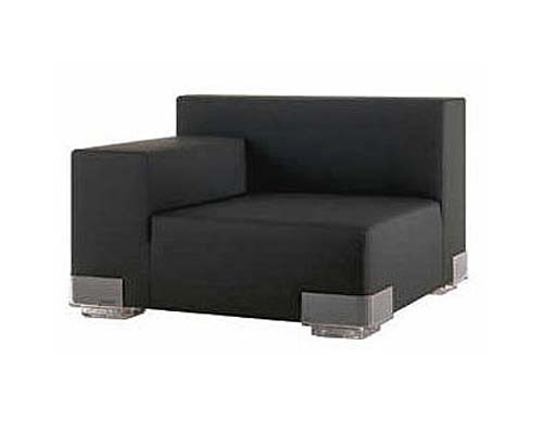 Plastics Right Armchair Black