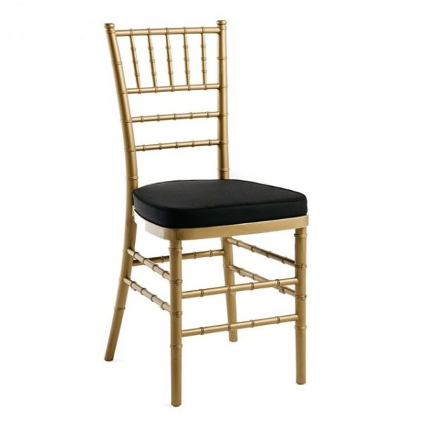 Chiavari_Gold with black cushion