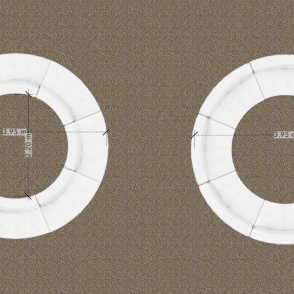 Serpentine circular configuration