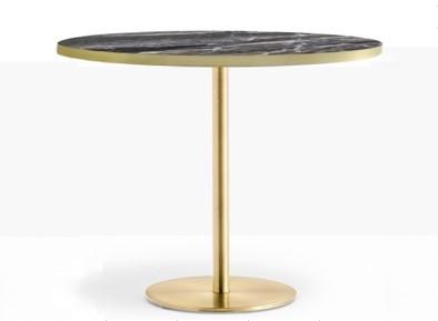 Inox black marble 90cm table